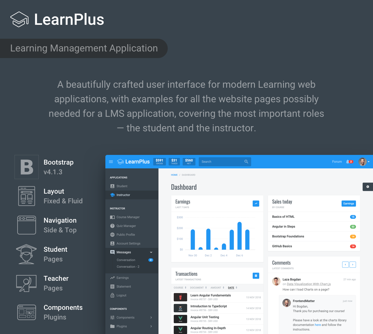LearnPlus Bootstrap - Learning Application Management